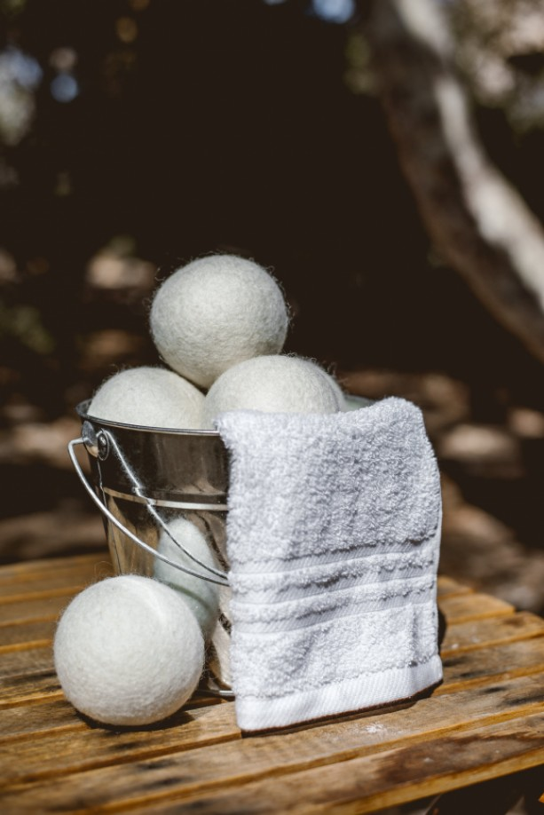 Unscented Felted Fabric Softener Wool Dryer Balls set of 3