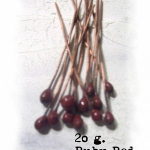 UR Ruby Red enameled headpins
