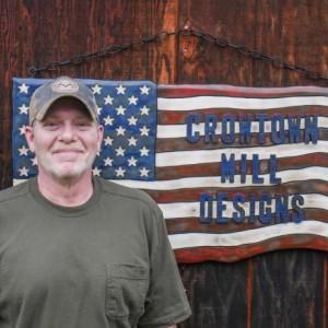 Medium Personalized American Flag