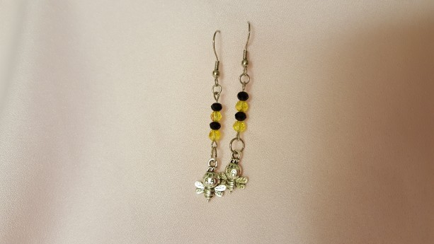 Earrings - Rondelle - Happy Little Bee