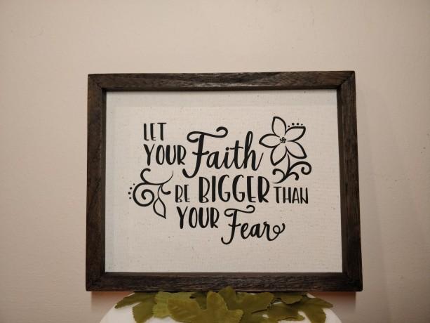 Rustic Sign Home Decor, Faith