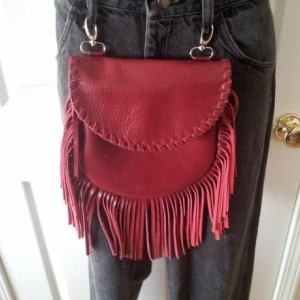 Handmade leather hip pouch