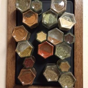Magnetic Chalkboard Spice Rack