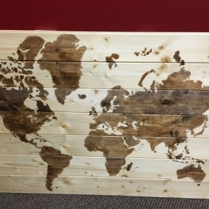 Classic Stained World Map- 38x24