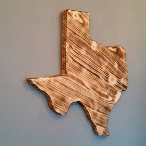 Rustic Texas State Decor, add a heart to your town