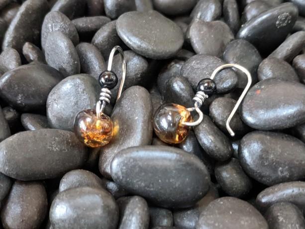 simplistic earrings petite dangle earrings sterling silver drop earrings artisan jewelry handmade jewelry gift for her artisan earrings