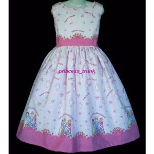 NEW Handmade Cute Zoo Animals Border Jumper Dress Custom Size 12M-14Yrs