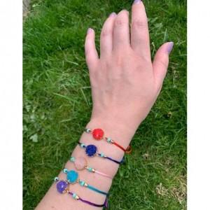 Make a Wish, Wish Bracelet, Pink Charm Bracelet, Lucky Pink String Bracelet ,Stocking Stuffer for Friends