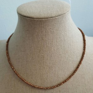 "16"" Copper Pyrite Necklace"