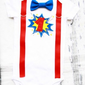 Boy first birthday Comic Super Hero themed First birthday Super hero  baby boy cake smash one year outfit  birthday outfit birthday