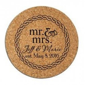 Custom Engraved Cork Coasters Set of (6) Personalized