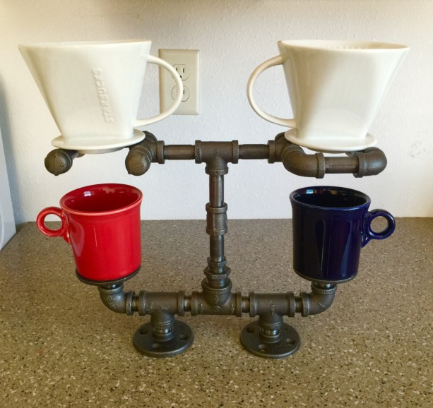 Pour Over Coffee Maker Coffee Lovers Dream Double Cup
