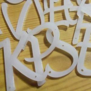 acrylic letters,laser cut charms,Lucida,alphabet