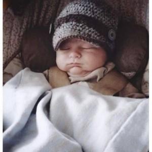 Baby Boy Newsboy Hat and Tie Set