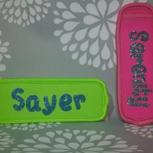 personalized popsicle holder, freeze pop holder, ice pop holder, popsicle sleeve, gogurt holder, party favor, summer gift, kids gift