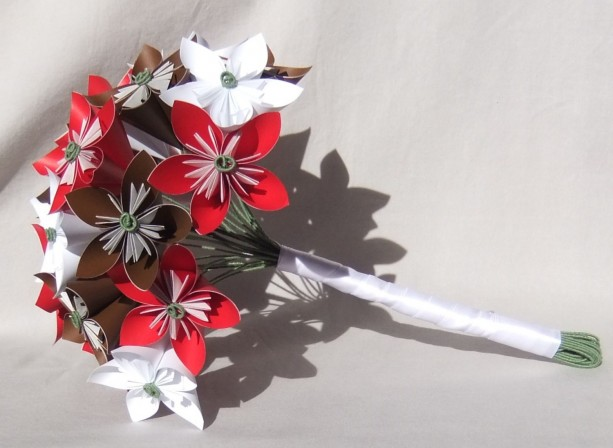 Custom Bouquet Paper Flower Bouquet Origami Flower Bouquet Custom Bridal Bouquet Bridesmaid Bouquet Alternative Wedding Bouquets