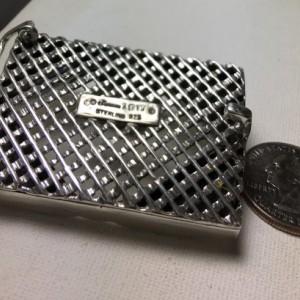 Alligator Artisan made sterling silver belt buckle