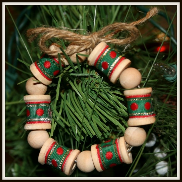 Hot Gift Sale Set Of 3 Wooden Mini Wreath Spool