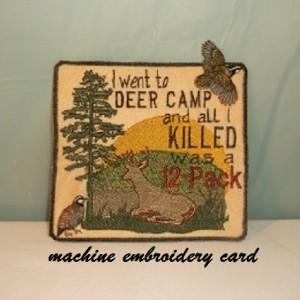 machine embroidery card
