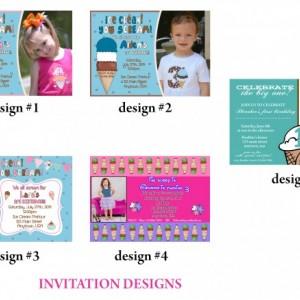 Ice Cream Birthday Invitation, Invitations, Birthday, Ice Cream Party