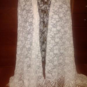 Bride's lace shawl