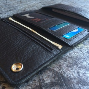 "Mens Deluxe Trifold Wallet, Apple iPhone 5, 5c, 5s & 6 Carrier, Genuine Leather, 18"" BRAIDED LEATHER CHAINS ONLY, Key FOB, Biker Wallet, Trucker Wallet."