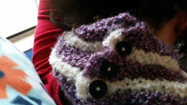 Button Closure Infinity Scarf