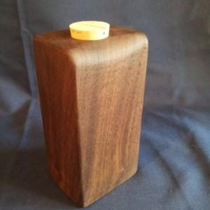 Decorative Walnut Flask