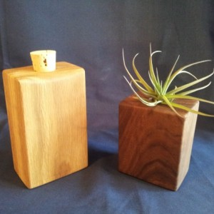 Decorative White Oak Flask