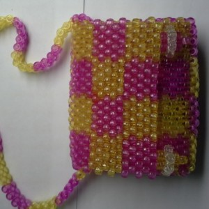 Checkered Kandi Purse