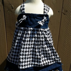 Country Girl Jean Dress Houndstooth