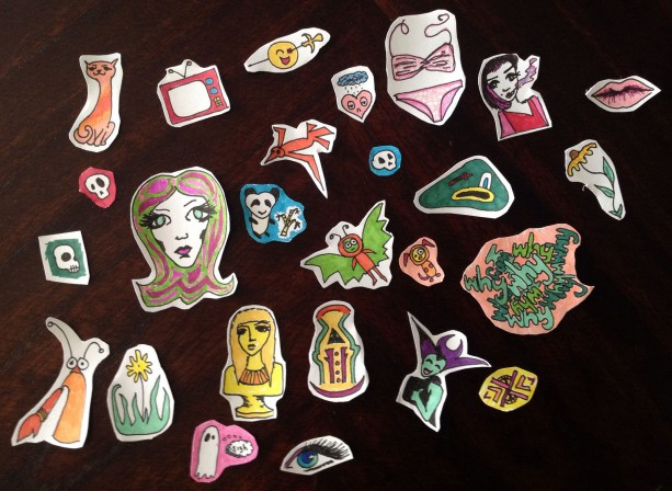 Hand-drawn Sticker Set #002: Circles/Mandalas / Wacky Miscellaneous