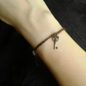 Skeleton Key Hemp Cord Bracelet *30% off* (Was $15)