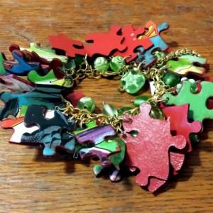 Superman Puzzle Cha Cha Bracelet