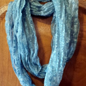 Sheer Acid Wash Infinity Scarf