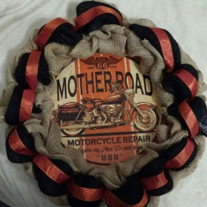 motorcycle wreath