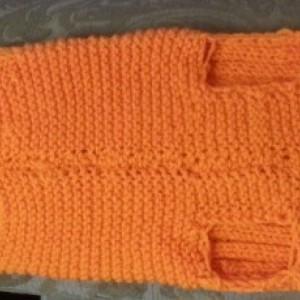 XL Orange Dog Sweater