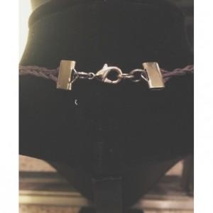 "Tibetan quartz 14"" black hemp necklace"