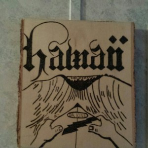 Hawaiian surfer plaque
