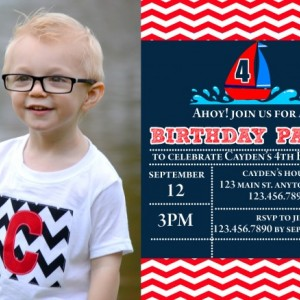 Sailboat Birthday Invitation, Invitations, Boat Party, Boats