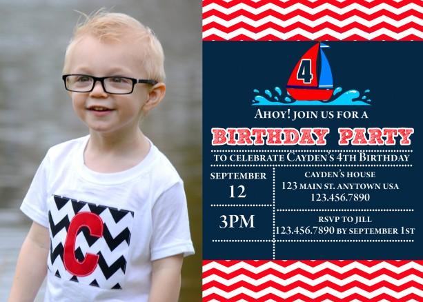 Sailboat Birthday Invitation, Invitations, Boat Party, Boats