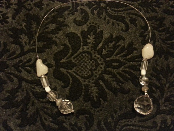 Crystal and stone beaded bookmark