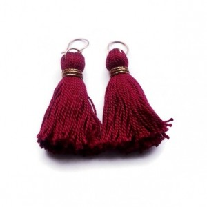 Maroon Tassel Earrings
