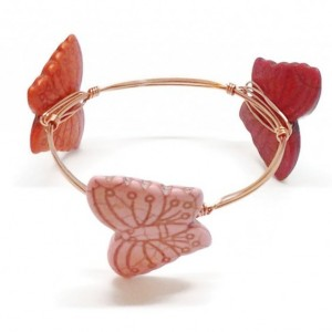 Butterfly Wire Wrapped Copper Bangle