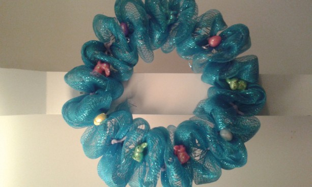 All Blue Easter wreath