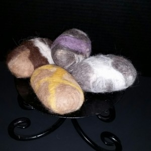 Felted Alpaca Soap