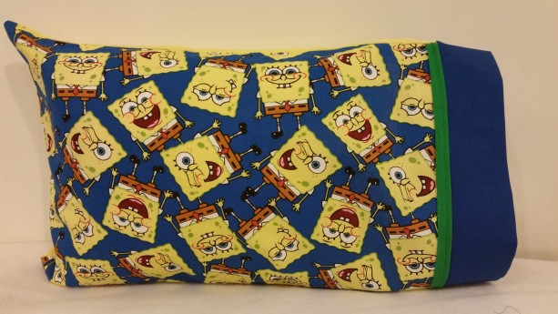SpongeBob Themed Toddler / Travel Personalized Pillow Case with Pillow