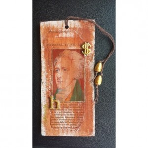 Alexander Hamilton Mini Mixed Media Art & Bookmark