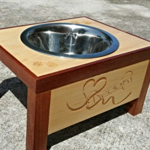 Personalized Elevated Pet Bowl Stand