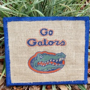 Gator Fan Burlap Canvas